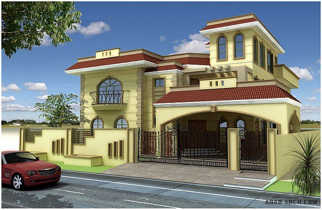 Arab arch for Front view of home design in india