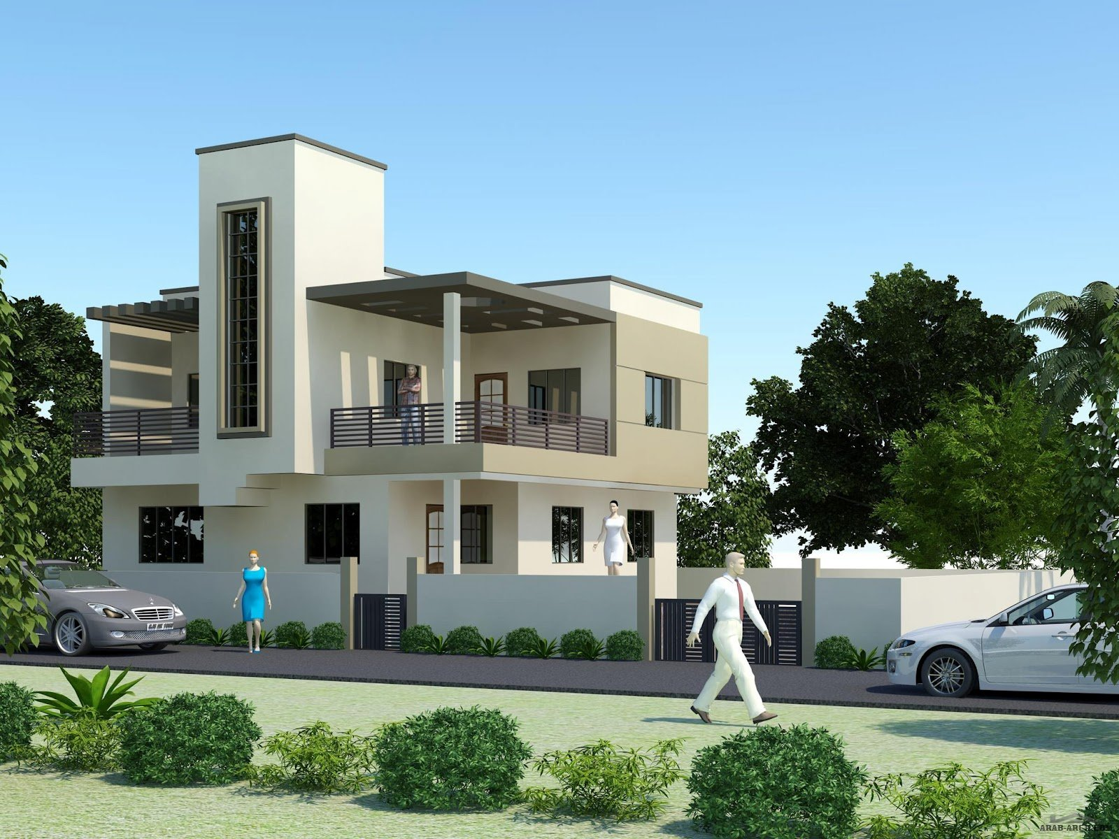 Front Elevation Designs For Houses In Usa : تصاميم فلل مودرن modern villas arab arch