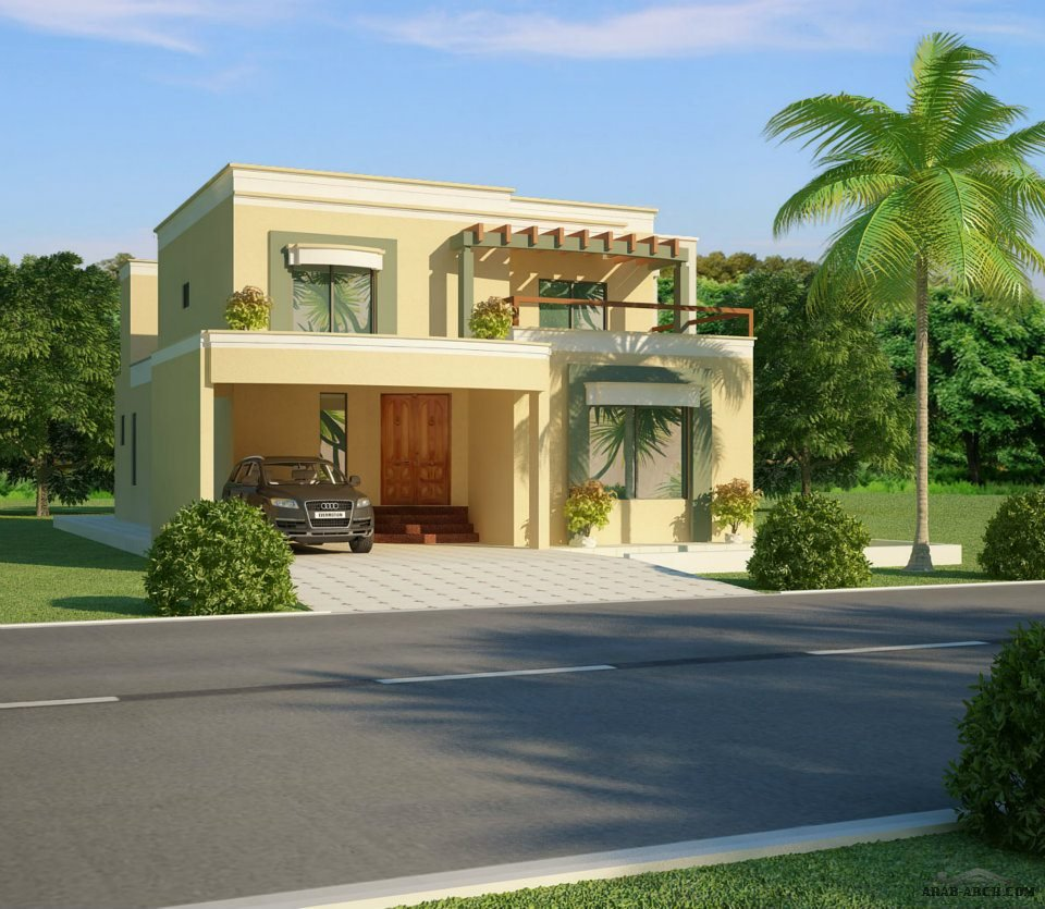 Arab arch for Front view of beautiful houses in pakistan