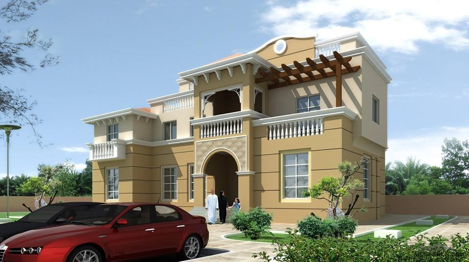 Front Elevation With Arch : D front elevation arab arch
