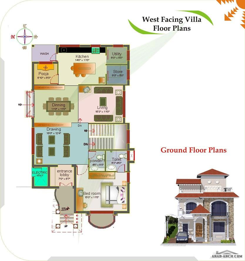 Luxury villas floor plans modern house for Villa designs and floor plans