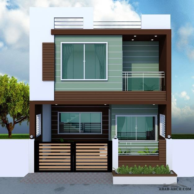Small Elegant Home Designs: مساحه الارض 93 متر مربع » Arab Arch