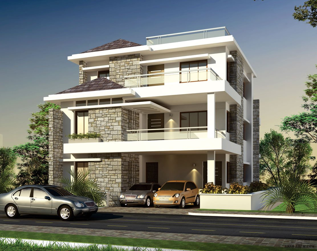 3 arab arch for Best house designs in hyderabad