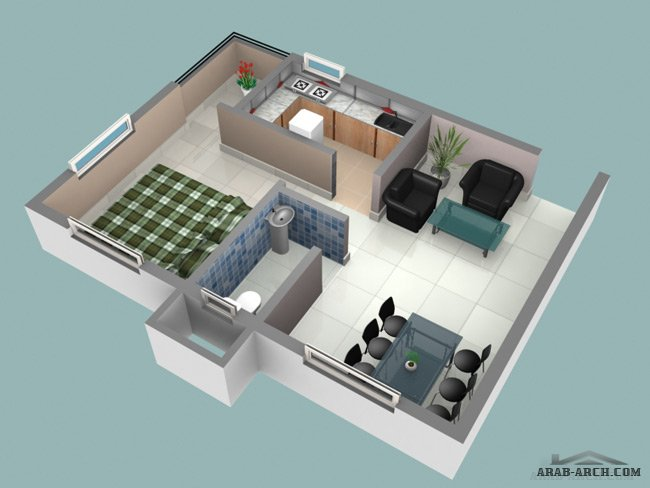 3 bedroom small house plans