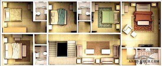 نماذج فلل العقيق تصميم عربي تقليدي نموذج تصاميم العقيق مخطط عمراني حديث فلل
