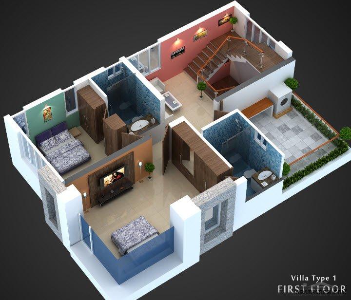 فلل مودرن بالمخطط 3d الديكور الداخلى Arab Arch: خرائط فيلا مودرن صغيرة المساحه + المخطط والخرائط 3D » Arab