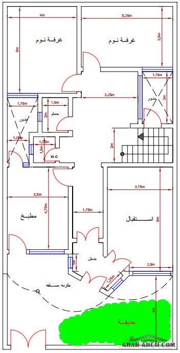 خرائط بيوت سكنية عراقية بمساحة 200 م Arab Arch