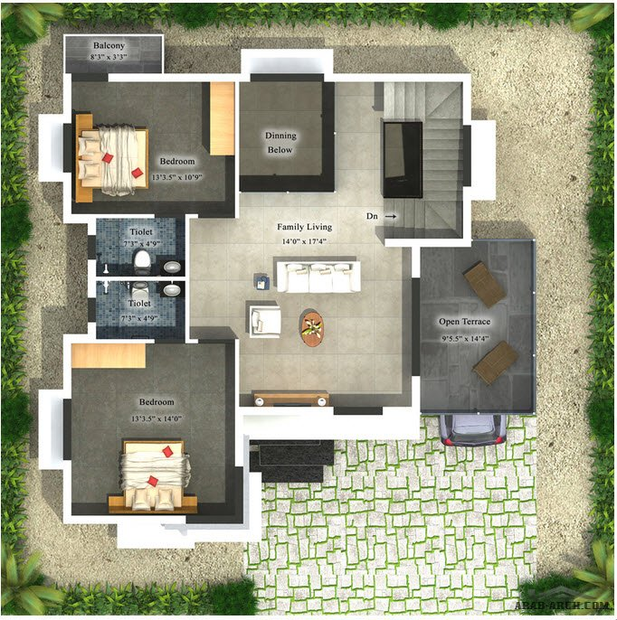 Floor plans villa elevation arab arch for Plan de villa style americain