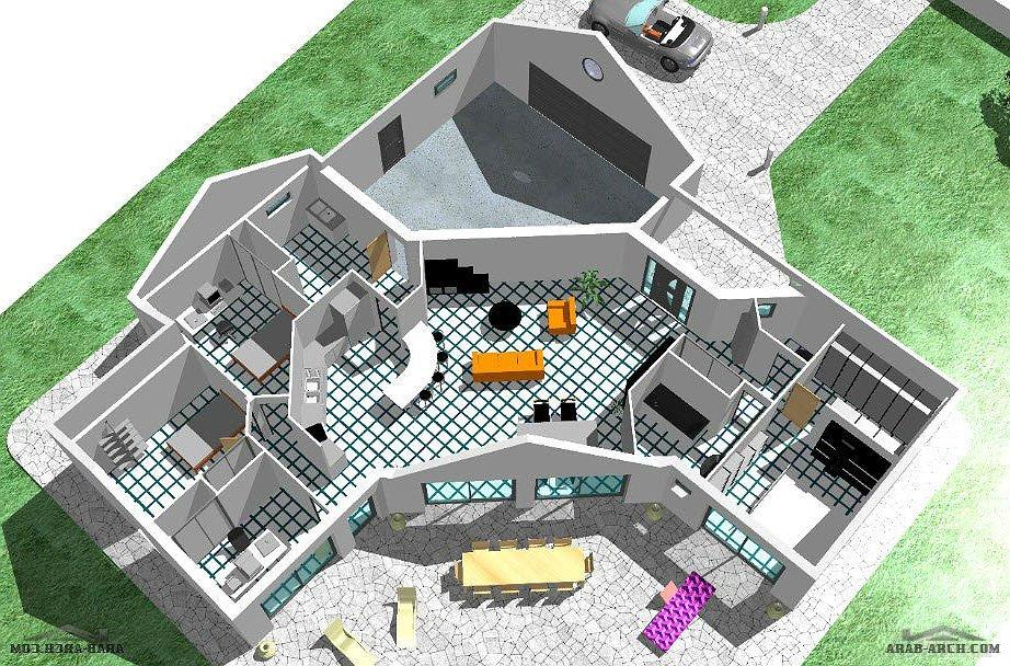 مخطط استراحه رائع جداااا Arab Arch