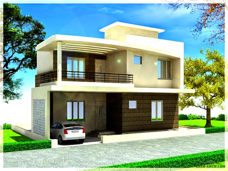 simple modern duplex home plan in 3d 187 arab arch
