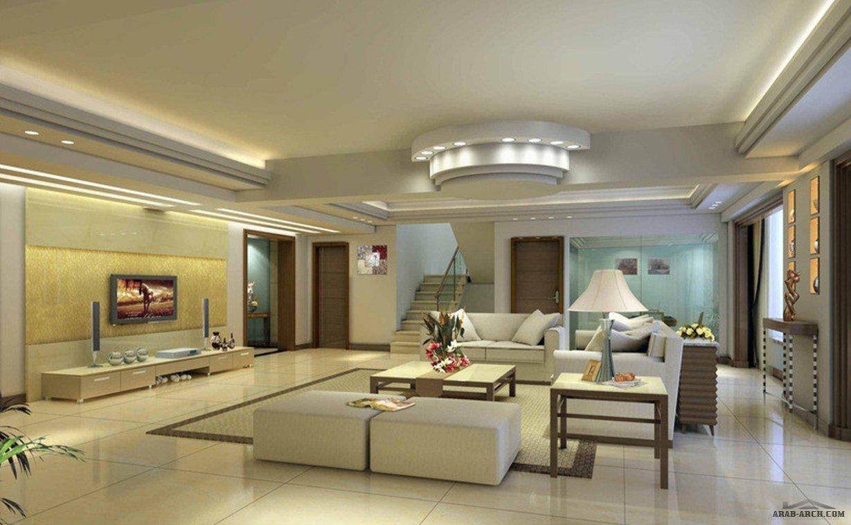Arab arch for Plaster ceiling design for living room