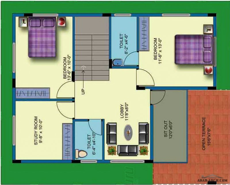 30x40 House Plans Amazing Design -floor plans