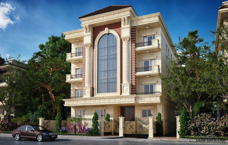 مخطط عمارة سكنية من اعمال ارتال - 109 الندلس القاهرة الجديدة