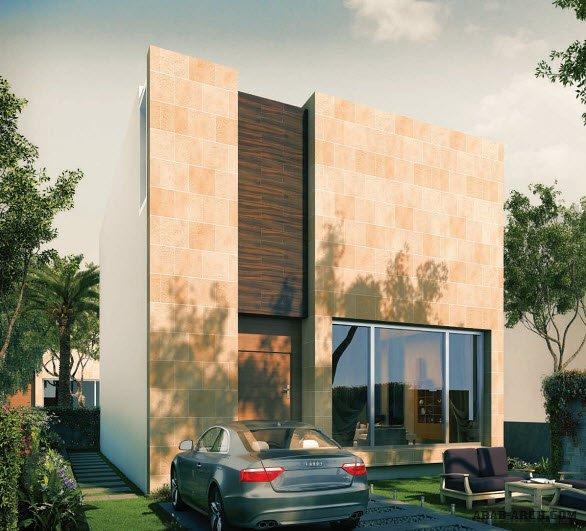 فلل مودرن بالمخطط 3d الديكور الداخلى Arab Arch: تصميم فيلا خليجى مودرن 3 غرف نوم + غرفة نوم بالطابق العلوى