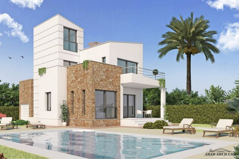 FLOOR PLANS MODERN INDEPENDENT VILLA 130 SQ M