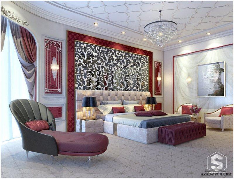 تصميم غرفه نوم بفيلا