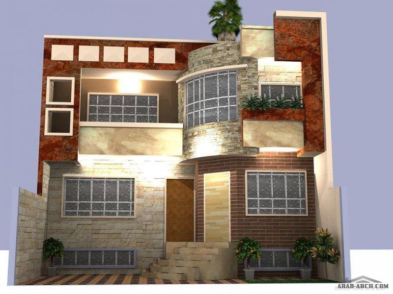 بيوت العراق واجهات منوعه وتقليدية