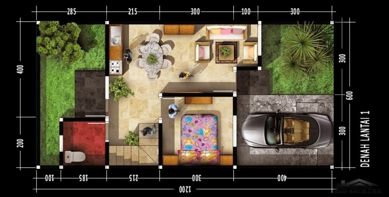 مخطط لفيلا اوربي مساحه صغيرة وتصميم بديع