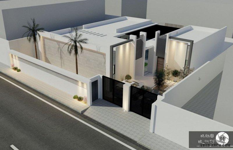 تصميم شاليه مودرن بالمدينة   304 متر مربع من اعمال معماري يحيى زنقوطي