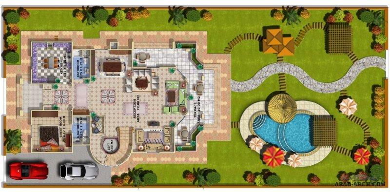 تصميم رائع لفيلا مع اللاند اسكيب لمعماري مميز Arc Amgad Samir