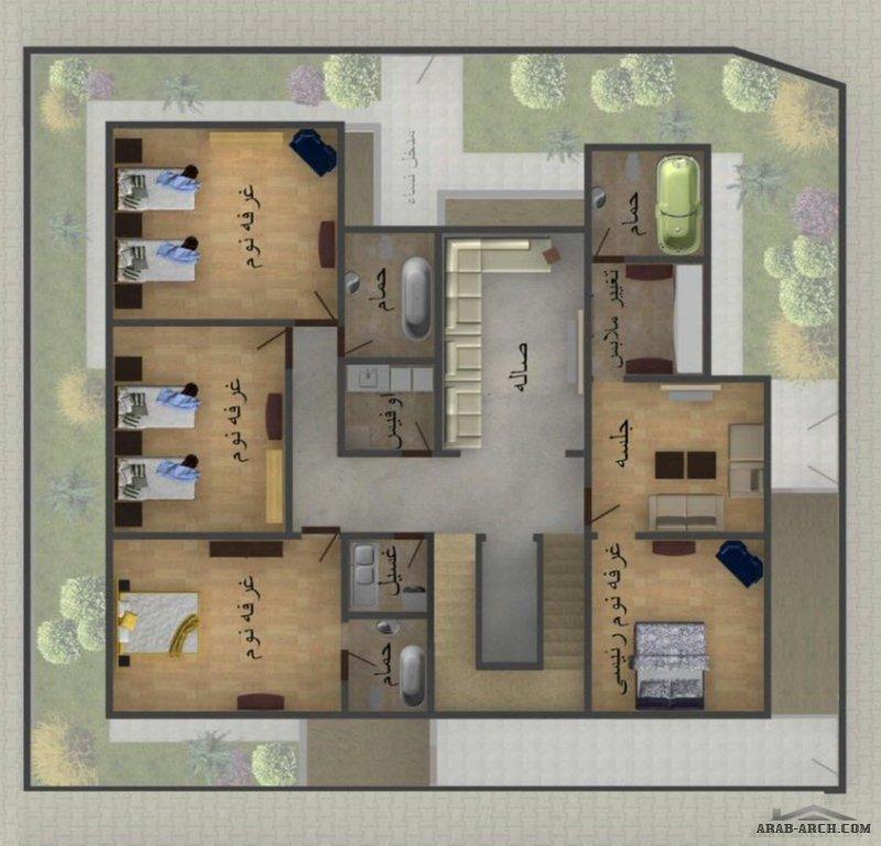 تصميم فيلا سكنية سعودية مكتب الريان م. شروق حمدي