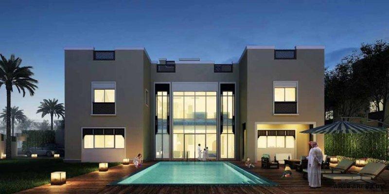 فيلا الفخامة  مخطط البناء 749 متر مربع - 6 غرف نوم