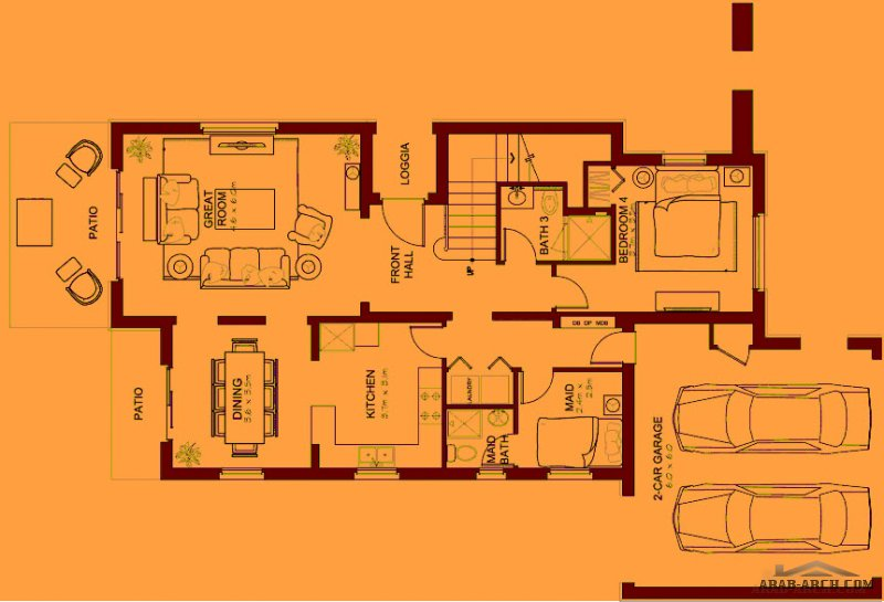 villa floor plans Type 2 | 4 bedroom Total area: 317.4 Sq.m