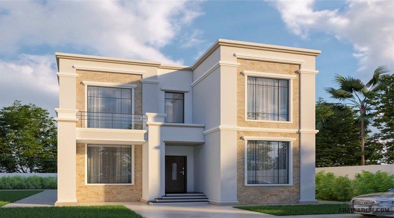 تصميم أبعاد البيت 10.50 م x 21.70 م  4 غرف نوم ارضي و اول
