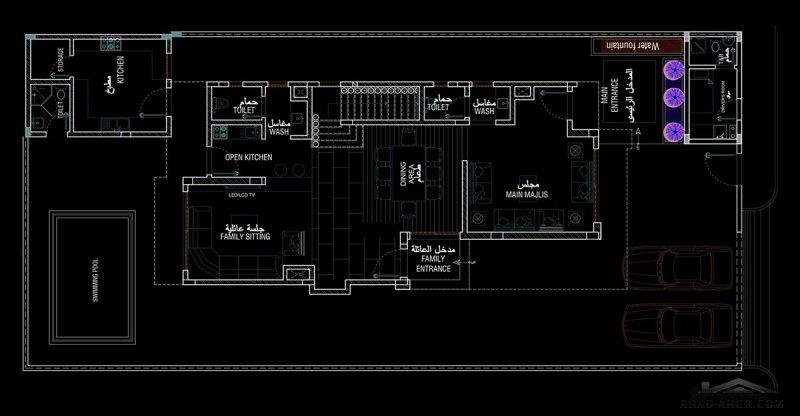 نموذج فيلا منازل جدة مساحة الارض 420 / m 2