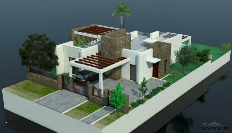 Type B Villas have a floor and a large roof terrace, 3 bedrooms and 3 bathrooms.