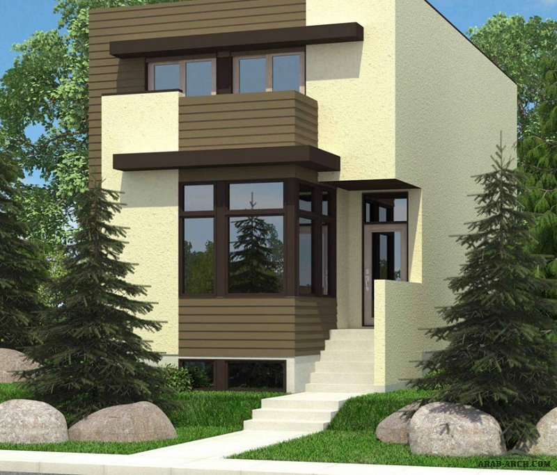 Story Plans Drop Modern Lot Architectures House Gorgeous Narrow
