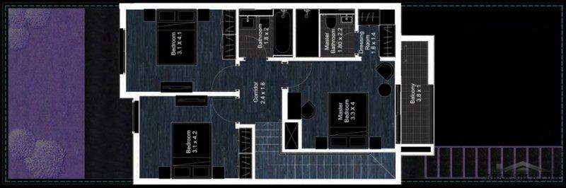 FLOOR PLANS 3 Bedroom Deluxe Townhouse