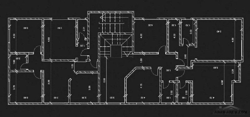 تصميم قطعه ارض صغيرة المساحة فيلا و شقة علوية بالخلف