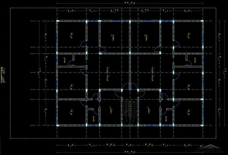 مخطط ارضي فيلا و العلوي شقتين المباني 16*22 متر و الارض 31*20 متر
