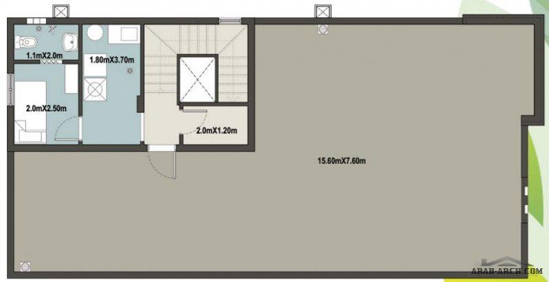 مخطط فيلا لوتس الارض 360 متر مربع 4 غرف نوم