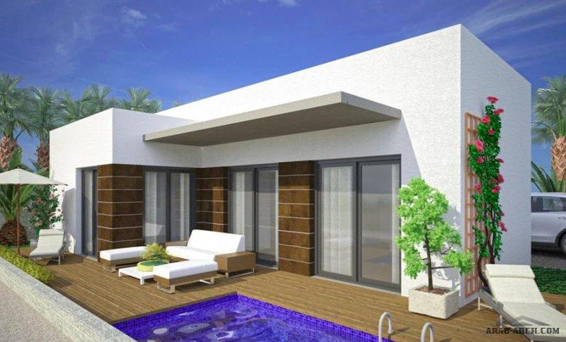استراحة صغيرة المساحة بمسبح مساحة 90 متر مربع