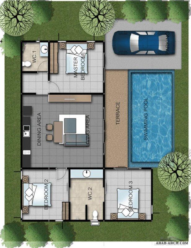 Pool Villas Floor Plans