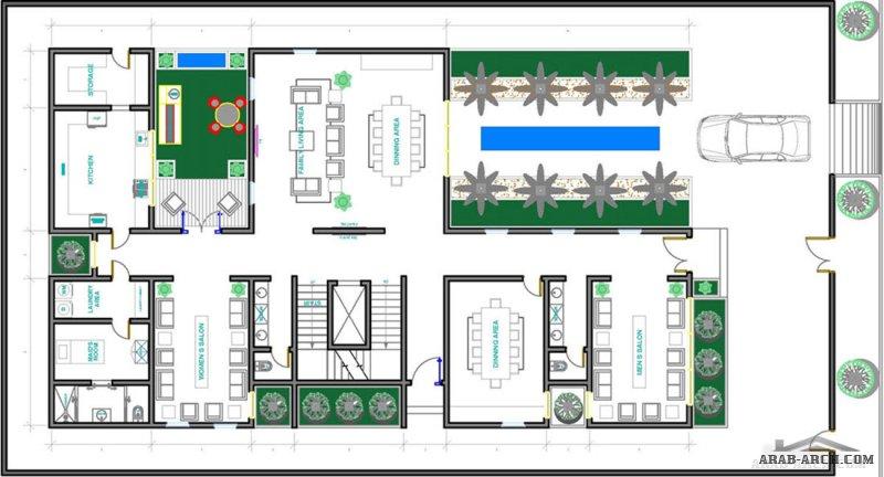 2 مخطط  لارض ابعادها 35 *20 متر