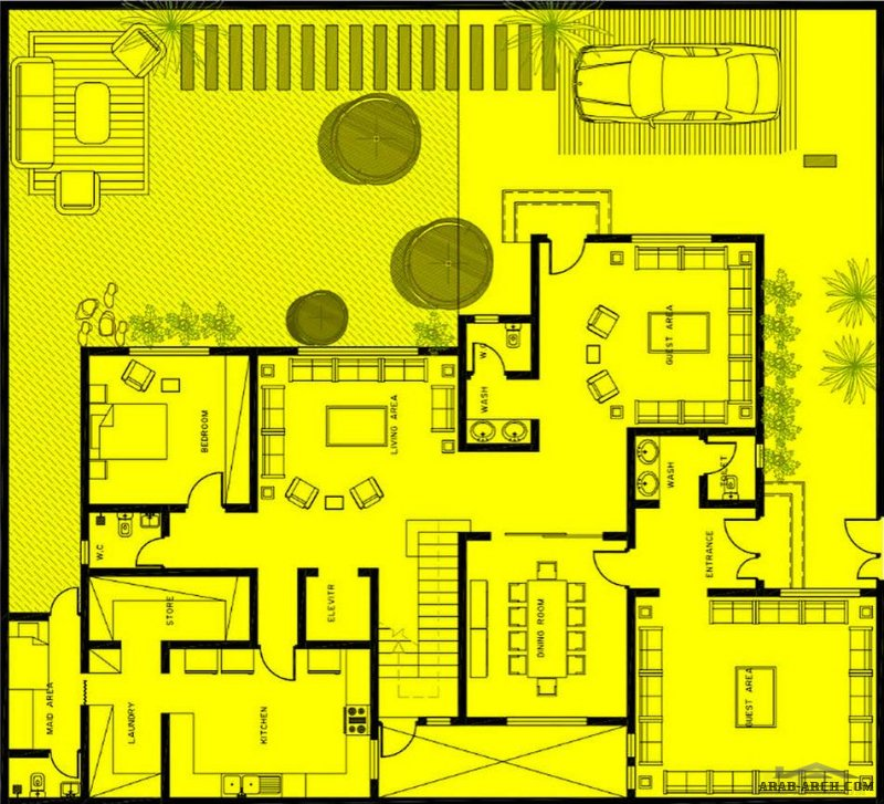 فيلا 20*22 مساحة الارض خطط فيلا دورين وملحق و مسطح البناء 472 م٢ من تصميم شركة عمار