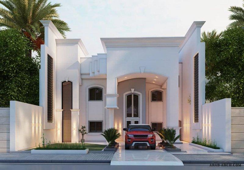 بيوت العراق روائع التصميم الخارجي من أعمال مكتب المهندس اكرم عبد اللطيف