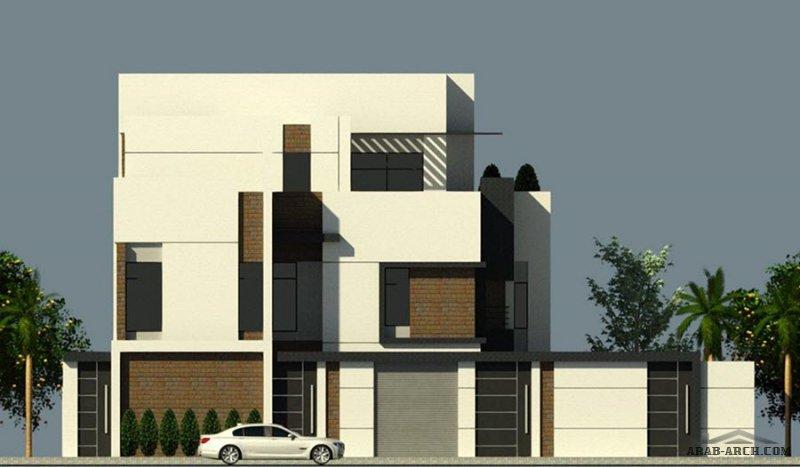 مخطط فيلا دورين مساحة الأرض 24.5x25 تصميم م/ أحمد الجهني