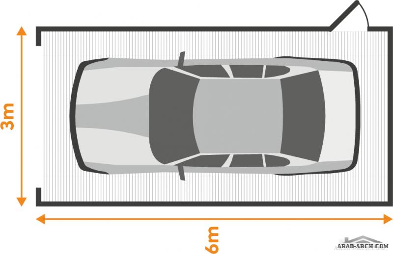 مقاس و  حجم جراج السيارة الخاص