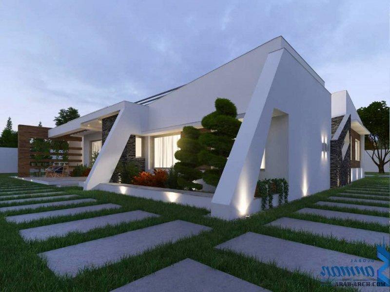 من اعمال   شركة سنمار العالمية للمقاولات و الاستثمار العقاري  تصميم فيلا  استراحة  دور واحد 230 متر مربع