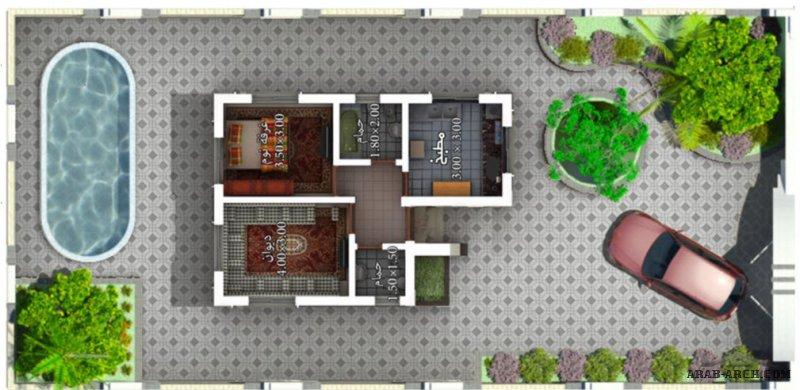 نماذج فيلا صغيرة 55 متر مربع مدينة العين السكنية الحديدة م/وائل البرهمي