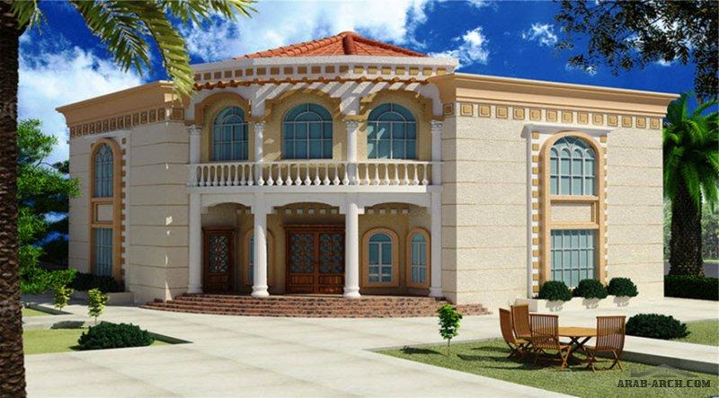 نموذج اندلسي من اعمال البيت للاستشارات الهندسية أبعاد البيت 16.65 م x 20.50 م