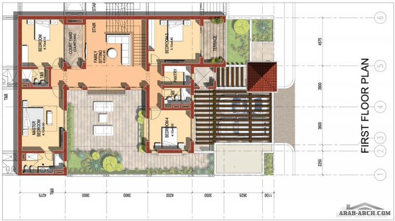 تصاميم الفلل - السكن الجديد لاعضاء هيئة التدريس نموذج A