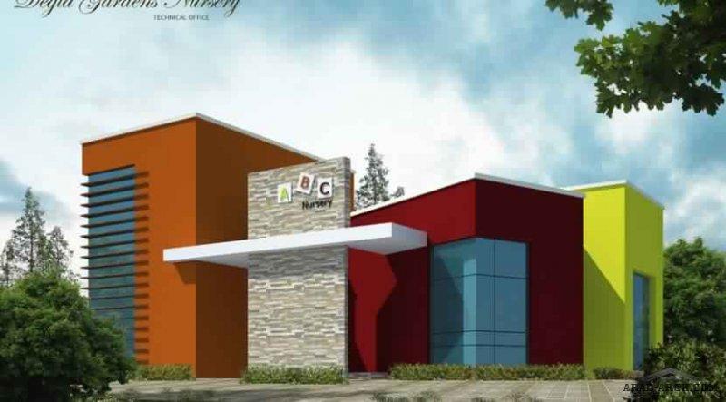تصميم حضانة دجلة جاردنز على مساحة 2000 متر مربع ويتكون من دور بدروم جراج ودور ارضي و دور رووف