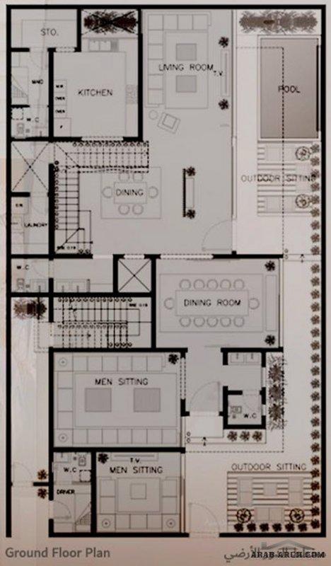 تَصميم فِيلا مودرن بمدينةالرياض وشقة بالدور الاعلوي من اعمال شركة ثُلث مهندسون ومعماريون