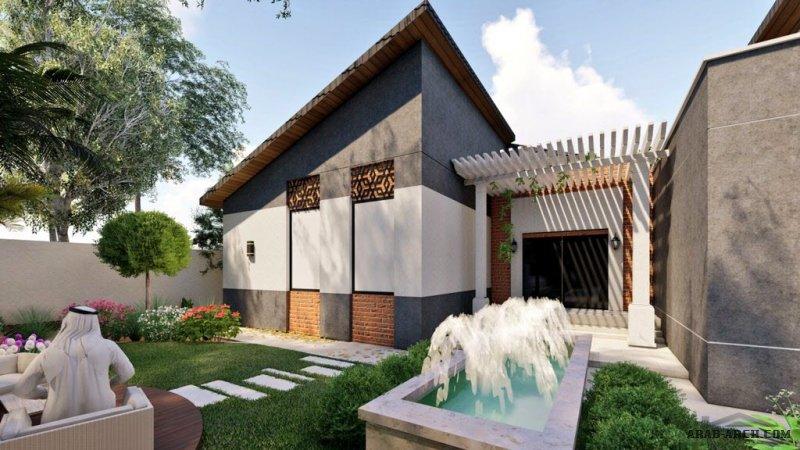 تصميم فيلا دور أرضي بطراز مختلف معمارية / سوزان أبو القمبز