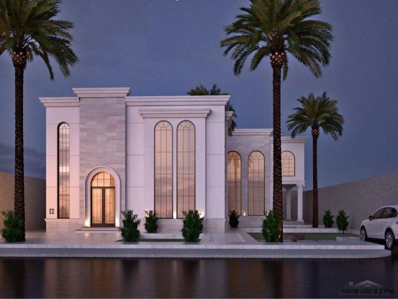 من اعمال ثلث مهندسون معماريون واجهه لفيلا عصرية
